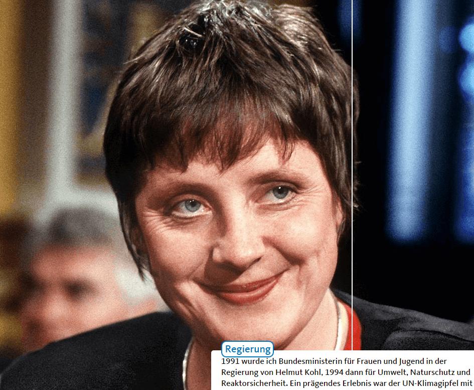 So kannten die Bewohner der Wilhelmstraße 73 (heute heßt derselbe Block Behrenstraße 1b) ihre Nachbarin Angela Merkel im Jahr 1994 als Bundesumweltministerin. (Foto: Angela-Merkel.de)