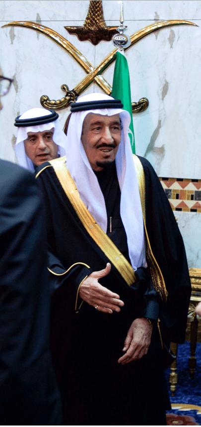 Saman ibn Abd al-Aziz (79), seit Januar König von Saudi-Arabien im Palast von Riad lehnt zwar Flüchtlinge in seinem Land ab, will aber Deutschland 200 neue Moscheen spendieren. (Foto: Wikimedia Commons)