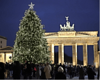 weihnachtsbaum vorm brandenburger tor zum ersten mal aus. Black Bedroom Furniture Sets. Home Design Ideas