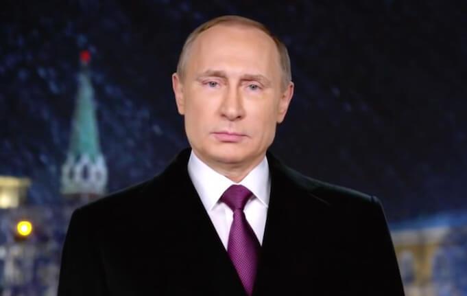 Wladimir Putin bei seiner Neujahrsansprache