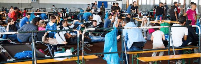 Der gesamte Haushaltsüberschuss von 12,1 Milliarden Euro geht für Flüchtlinge drauf (Foto: Bundespolizei)