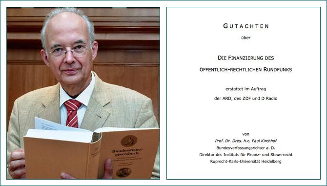 Paul Kirchhof (73), der ältere Bruder des Vizepräsidenten des Bundesverfassungsgerichts, Ferdinand Kirchhof (65) hat das Befürwortungs-Gutachten der GEZ-Gebühren von heute 17,50 Euro für jeden Haushalt im Monat verfasst (Foto: 1.bp.blogsport.com)