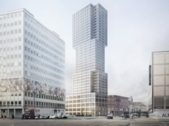 Von 2016 bis 2019 will der Moskauer Bauträger MonArch auf dem Alexanderplatz das höchste Wohnhaus Berlins (150 Meter) errichten (Simulation: Ortner & Ortner Baukunst Wien/Berlin)