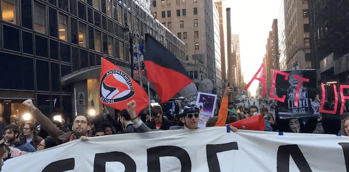 Deutsche Antifa legt in New York den Verkehr lahm