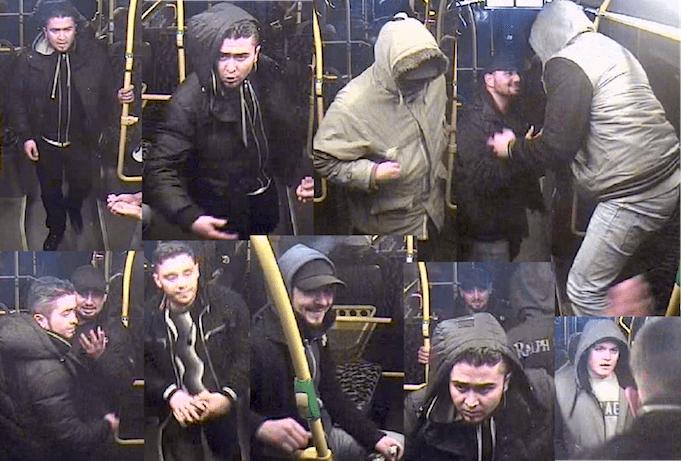 Berliner Polizei sucht sechs brutale Schläger