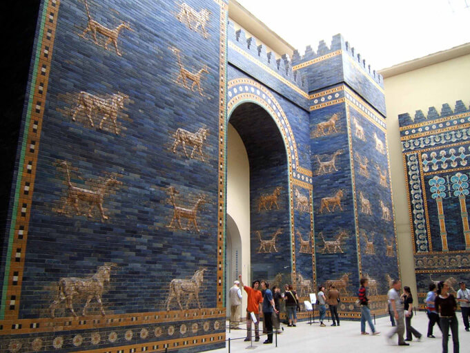 The Ishtar Gate in the Pergamon Museum. (Source)