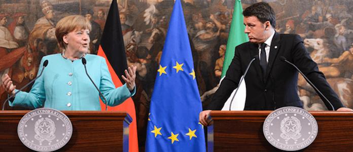 Nachdem Italiens Vorschlag für Eurobonds zur Finanzierung Afrika-Flüchtlingskrise in Berlin abgelehnt wurden, machte gestern in Rom Italiens Ministerpräsident Matteo Renzi bei Angela Merkel einen neuen Vorstoß. Er schlug eine Lösung wie bei dem EU-Türkei-Pakt vor (Foto: Bundesregierung/Güngör)