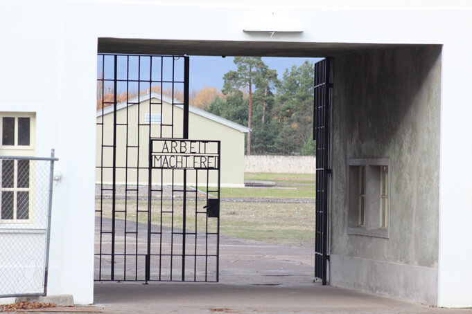 Gate at Sachsenhausen Concentration Camp.