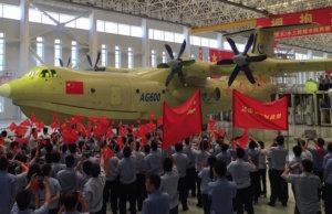 Am Samstag (23. Juli 2016) lief in China das größte Wasserflugzeug der Welt vom Band. Es eignete sich hervorragend zum Pendeln zwischen China und den beanspruchten Spratly Inseln im Südchinesischen Meer (Foto: defence-blog.com)