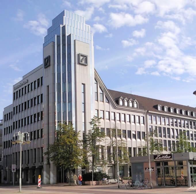 Placówka banku Deutsche-Bank