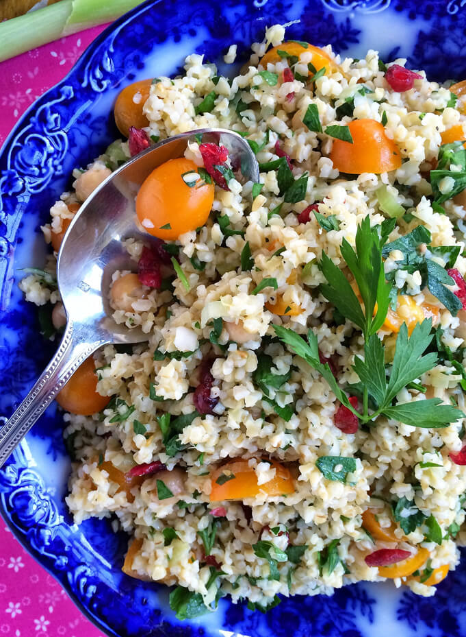 Tabbouleh salad. Source.