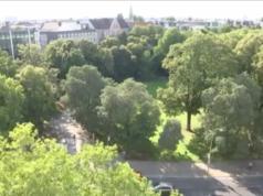 Was soll im grünen Dreieck zwischen Bundesallee und Fasanenplatz in Wilmersdorf entstehen: Büros oder Kultur mit Wohnungen? Darüber wird noch gestritten. (Screenshot: rbb Aktuell)