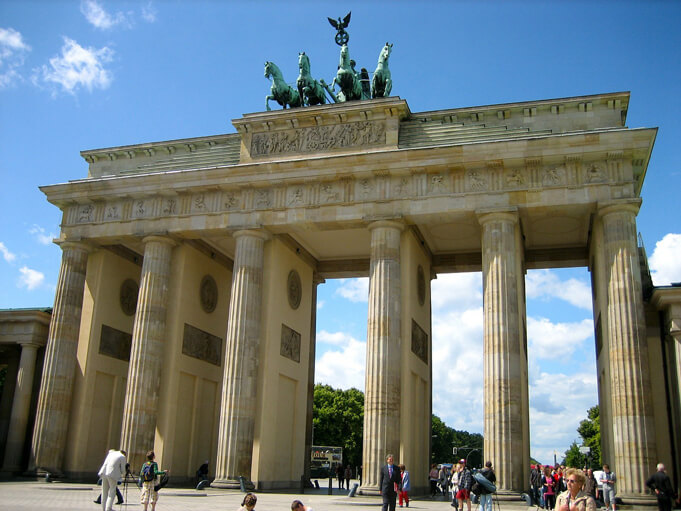 Brandenburg Gate, an icon in Berlin and a must see stop on the Berlin Wall Trail.