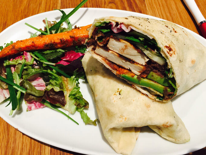 A 100% vegan wrap. Looks pretty good, eh?