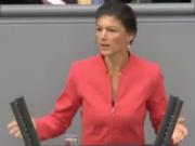 """Dr. Sahra Wagenknecht, Co-Fraktionschefin der LINKEN im Bundestag: """"Die NATO-Einkreisung Russlands sichert nicht den Weltfrieden, sondern gefährdet ihn."""" (Foto: youtube)"""