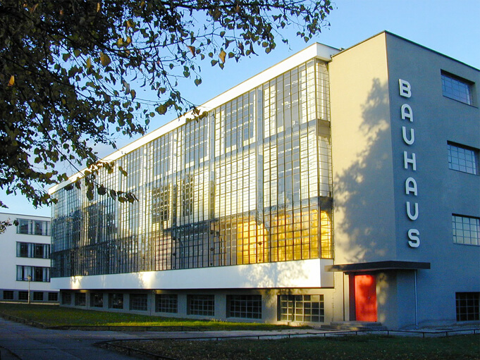 Bauhaus building in Dessau.