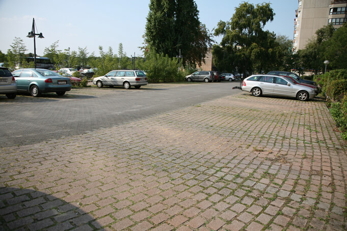 The spot of Hiter's Bunker originally in Berlin, now a parking lot. Source.