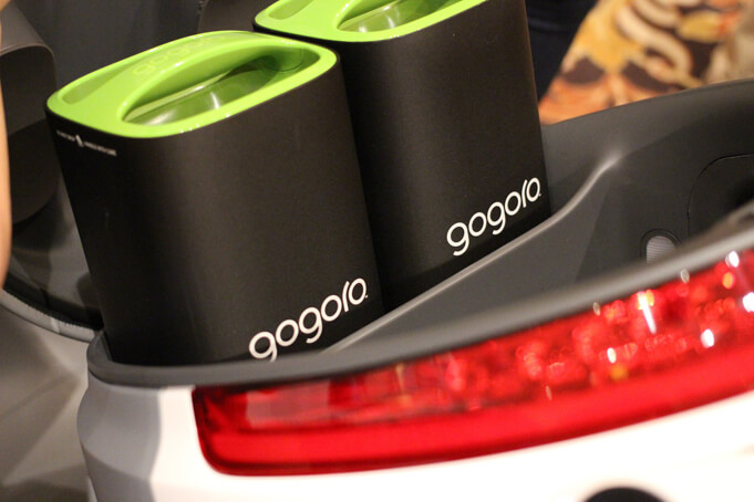 Gogoro's lithium battery packs. Source.
