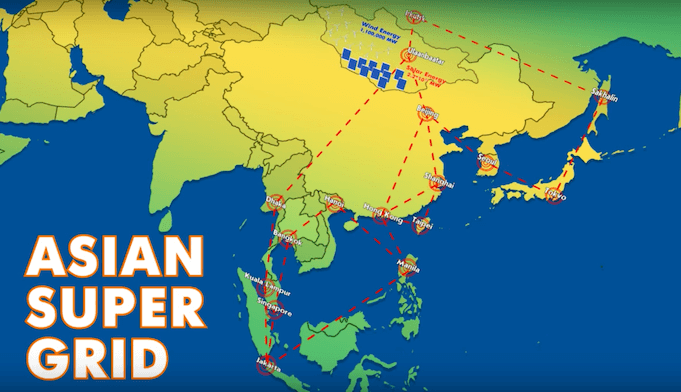 Japan, Südkorea, Russland und China planen gemeinsam das Super-Stromnetzwerk Asian Super Grid. Foto: (Screenshot, Youtube)