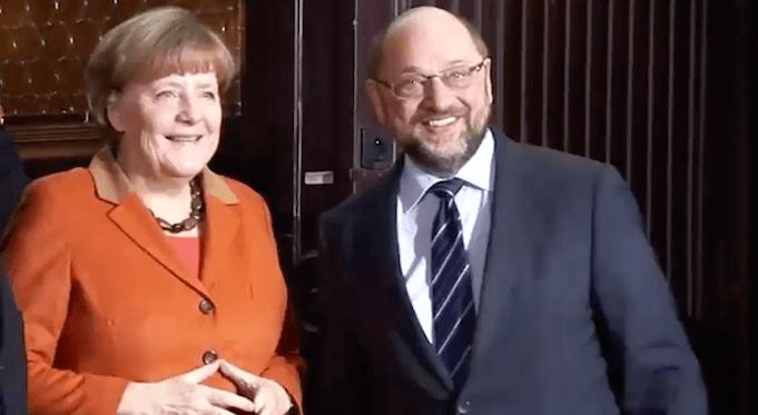 Deutschlandtrend Martin Schulz Angela Merkel