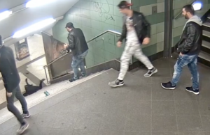 Polizei fahndet nach Treppen-Treter