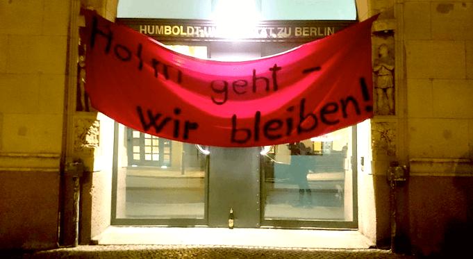 Studenten der Humboldt Uni solidarisieren sich mit Andrej Holm. (Foto: Facebook)