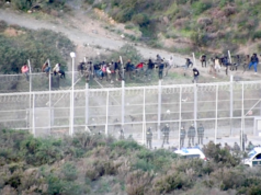 Ceuta Afrikaner Grenze Spanien Auge
