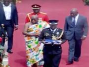Ghanas Präsident übernimmt Einweihungsrede von Clinton und Bush (Foto: Youtube, GHOne TV)