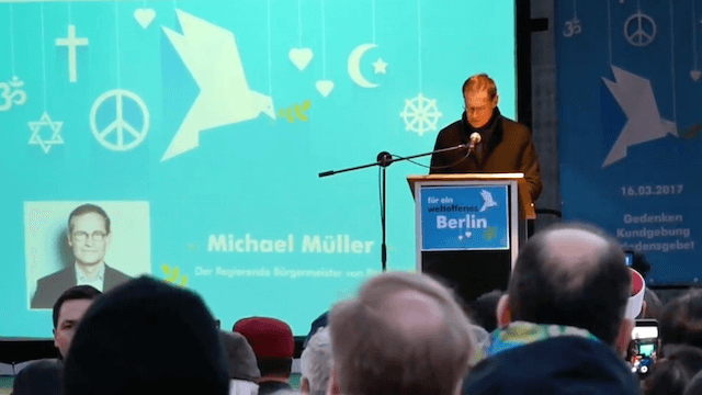 Michael Müller Islamisten-Kundgebung Gedächtniskirche