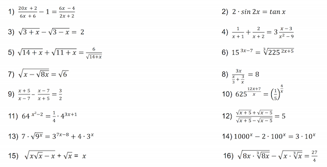 Studienanfänger Mathematik-Aufgaben
