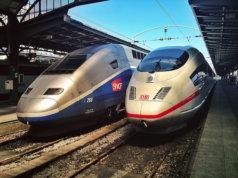Zugafahren in Europa. Hier: Europas schnellsten Züge: der TGV und der ICE (Foto: Clem)