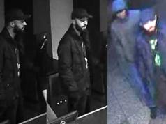 Mit Überwachungsbildern fahndet die Polizei nach den beiden Tätern.