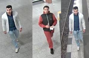 Auf dem U-Bahnhof Mehringdamm schlugen sie ihr Opfer zu Boden und traten zu. Nach diesen beiden Tatverdächtigen wird gefahndet. (Fotos: Polizei Berlin)