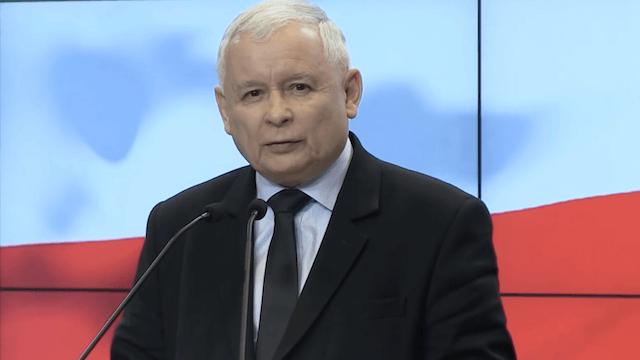 Jaroslaw Kaczynski fürchtet, dass die Aufnahme von Flüchtlingen Polens Untergang sein könnte. (Screenshot: YouTube)