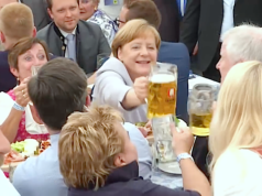 Bundeskanzlerin und CDU-Chefin Angela Merkel führt die Union voraussichtlich zu einem weiteren Wahlerfolg. (Screenshot: YouTube)