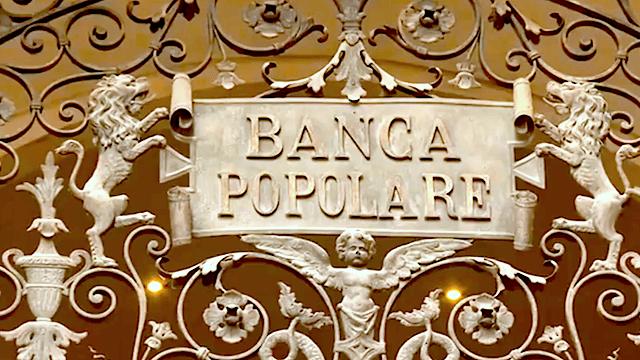 Banca Popolare di Vicenza ist eine der Pleitebanken, die auf Anordnung der EZB abgewickelt werden. (Screenshot: YouTube)