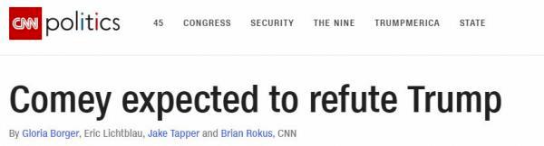 CNN Fake News anonyme Zeugen Trump Comey
