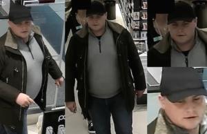 Die Polizei sucht einen Mann, der immer wieder mit Kreditkarten betrügt. (Fotos: Polizei Berlin)