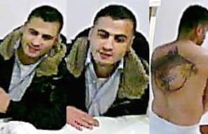 Die Polizei Berlin sucht diesen Mann, der in einer Sauna einen Brand mit drei Toten verursacht haben soll. (Fotos: Polizei Berlin)