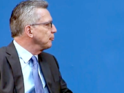 Vor dem Hintergrund einer erhöhten Terrorgefahr plant Bundesinnenminister Thomas de Maizière (CDU) Handy-Zugriff und Gesichtserkennung. (Screenshot: YouTube)