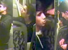 Diese vier Schläger brachen ihrem Opfer im Bus die Nase. (Fotos: Polizei Berlin)