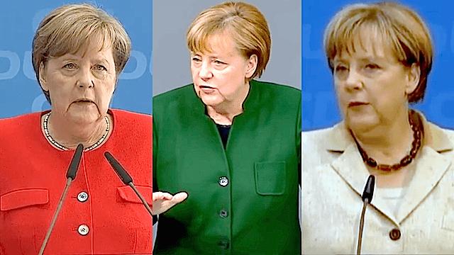 Laut Forsa könnte Angela Merkel mit der SPD weitermachen wie bisher, mit den Grünen etwas Neues probieren oder mit der FDP auf Altes zurückgreifen. (Screenshot: YouTube)