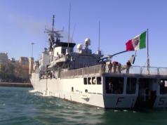 Italien startet eine Marineoperation vor der libyschen Küste. (Screenshot: YouTube)