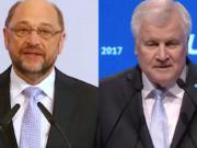 Martin Schulz und Horst Seehofer warnen vor neuer Migrationswelle. (Screenshots: YouTube)