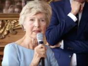 Friede Springer an ihrem 75. Geburtstag (Foto: BILD.DE, Youtube)