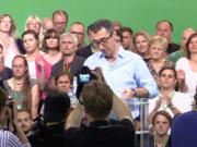 Die Grünen fallen in einer Wahlumfrage erstmals auf Platz 6 zurück. (Screenshot: YouTube)