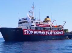 Auch die Identitäre Bewegung kreuzt im Mittelmeer. (Screenshot: Facebook)