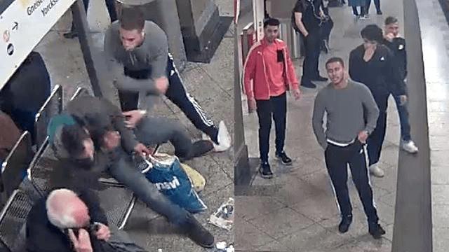 Vier Jugendliche haben einem Obdachlosen mit der Faust ins Gesicht geschlagen. (Fotos: Polizei Berlin)