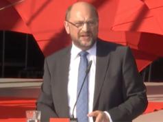 Martin Schulz am Dienstag in Trier gegen US-Atomwaffen und gegen Erdogan. (Screenshot: YouTube)