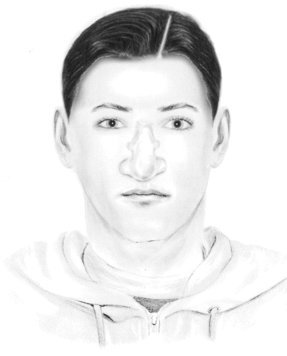 Laut Polizei hat der gesuchte Serien-Einbrecher von Westend arabisches Aussehen und eine sehr große Nase mit Höcker. (Phantombild: Polizei Berlin)